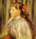 Pierre Auguste Renoir Portrait of a Girl