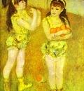 Pierre Auguste Renoir Two Little Circus Girls