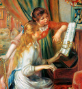 Renoir Auguste At the piano Sun
