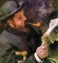 Renoir Auguste Claude Monet reading Sun