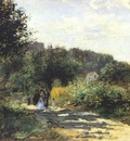 renoir a road in louveciennes c1872