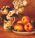 renoir apples and flowers c1895