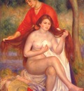 renoir bather and maid la toilette c1900