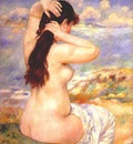 renoir bather arranging her hair