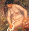renoir bather drying herself