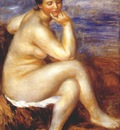 renoir bather with a rock c1880