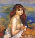 renoir bathing woman c1883