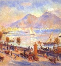 renoir bay of naples vesuvius in background