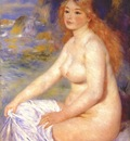 renoir blonde bather