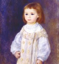 renoir child in a white dress lucie berard