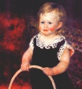 renoir child with a hoop c1875