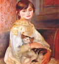 renoir child with cat julie manet