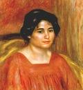 renoir gabrielle in a red blouse c1910