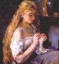 renoir girl crocheting c1875