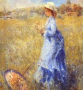 renoir girl gathering flowers c1872