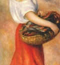 renoir girl with a basket of fish c1889
