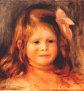renoir girl with a pink ribbon