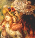renoir girls putting flowers on their hats 1893