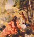 renoir in the meadow c1890