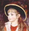 renoir jeanne henriot girl in a blue hat