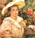 renoir lady with white hat