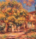 renoir lime tree and farmhouse c1919