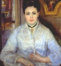 renoir madame chocquet in white