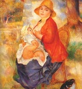 renoir mother nursing her child aline and pierre