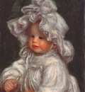 renoir portrait of claude renoir coco in flounced bonnet