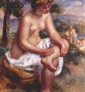 renoir seated bather in a landscape eurydice 1895