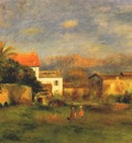 renoir view of cagnes c1900