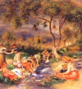 renoir washerwomen at cagnes c1912