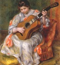renoir woman playing the guitar 1896