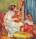 renoir woman with a guitar