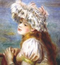renoir young girl in a lace hat