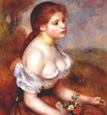 renoir young girl with daisies
