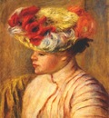 renoir young woman in a flowered hat