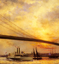 Renouf Emile View Of The Brooklyn Bridge