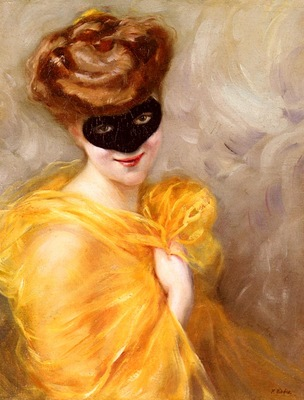 Ribera Pierre Lady At A Masked Ball