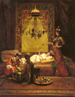 Richter Edouard Frederic Wilhelm In The Harem
