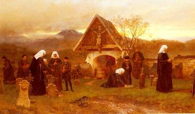 Riefstahl Wilhelm Ludwig Friedrich Am Allerseelentage Auf Dem Friedhofe
