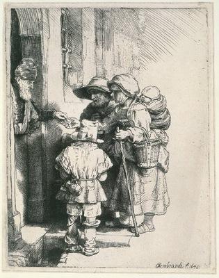 rembrandt beggars at the door