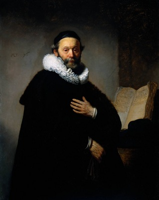 Rembrandt Portrait of Johannes Wtenbogaert