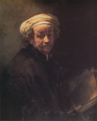 Rembrandt Self portrait as the Apostle Paul