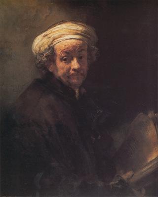 Rembrandt Self portrait as the Apostle Paul