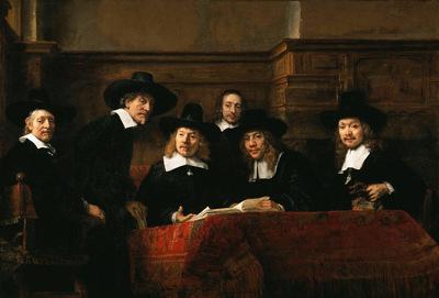 Rijn van Rembrandt De Staalmeesters Sun