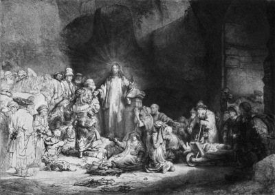 Rijn van Rembrandt Honderd gulden prent Sun