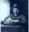 rembrandt rembrandt drawing at a window