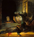 Rijn van Rembrandt Dead peacocks Sun