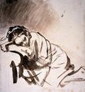 rijn van rembrandt hendrickje sleeping sun